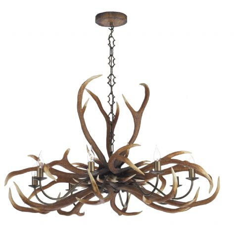 Antler Emperor 8-light Made in the Cotswolds Ceiling Light ANT0829E